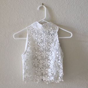 NWT SABO SKIRT LACE CROP TOP